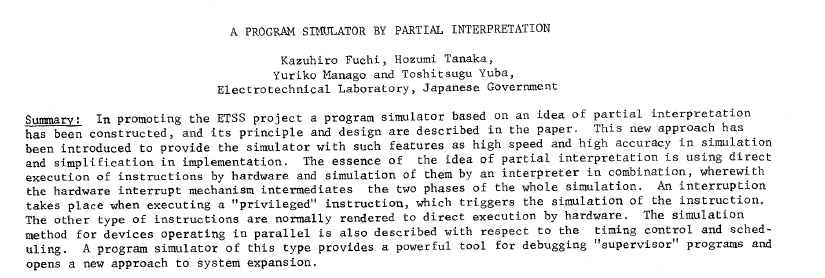 Abstract of Fuchi 1969 paper