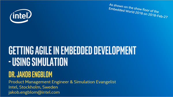 Embedded World 2018 talk cover slide