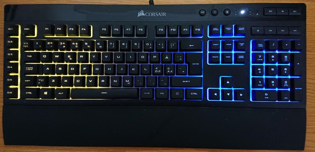 Off-Topic: The Corsair K55 Rather Silent Keyboard